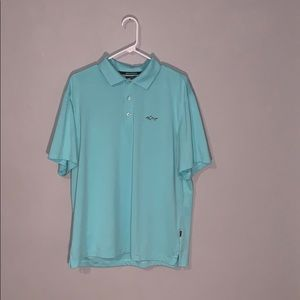 Turquoise Greg Norman Golf Polo